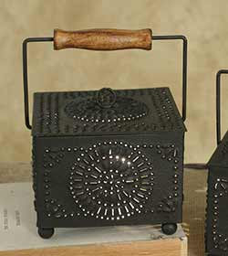 Pinwheel Punched Tin Wax Warmer
