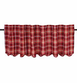 Braxton Red Plaid Valance (60 inch)