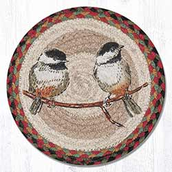Chickadee Braided Tablemat - Round (10 inch)