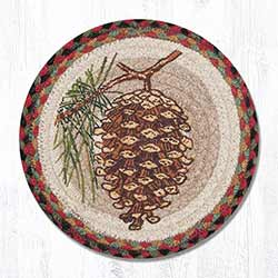 Pinecone Braided Tablemat - Round (10 inch)