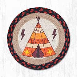Tepee Braided Tablemat - Round (10 inch)