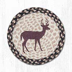 Little Buck Braided Tablemat - Round (10 inch)