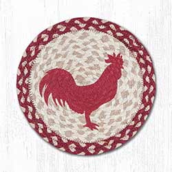 Red Rooster Braided Tablemat - Round (10 inch)
