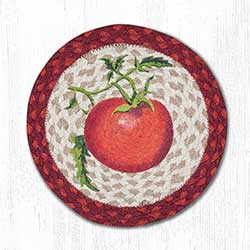 Tomatoes Braided Tablemat - Round (10 inch)