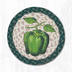 Bell Pepper Braided Tablemat - Round (10 inch)