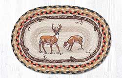 Deer Braided Tablemat - Oval (10 x 15 inch)