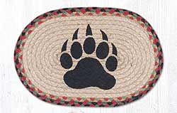 Bear Paw Braided Tablemat - Oval (10 x 15 inch)