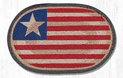 Original Flag Hand Braided Tablemat - Oval (10 x 15 inch)