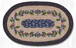 Blueberry Vine Hand Braided Tablemat - Oval (10 x 15 inch)