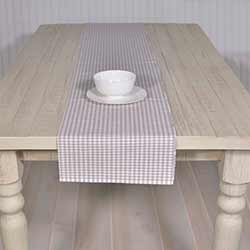 Tara Grey 90 inch Table Runner