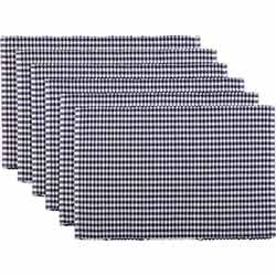 Tara Navy Ribbed Placemats (Set of 6)