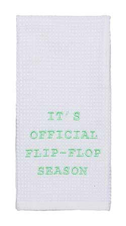 Flip Flop Season Dishtowel