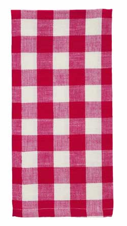 Picnic Red Check Dishtowel