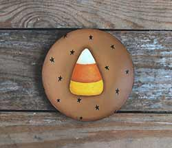 Candy Corn with Stars Plate