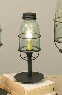 Mason Jar Desk Lamp - Short