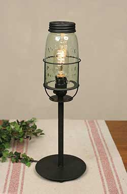 Mason Jar Desk Lamp - Tall