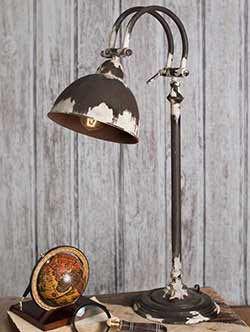 Distressed Metal Desk Lamp