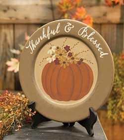 Thankful & Blessed Decorative Plate