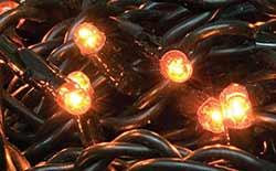 Teeny Orange String Lights - 20 count