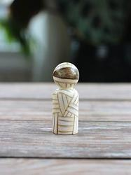 Mummy Peg Doll (or Ornament)