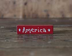 America Mini Stick Shelf Sitter - Red