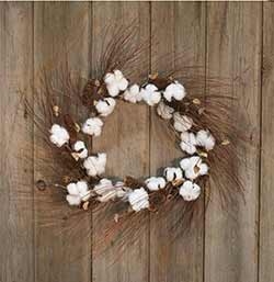 Cotton Ball and Pine Cone Wreath