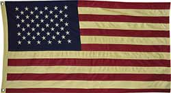 Large Tea Dyed American Flag