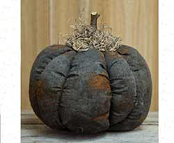 Grungy Primitive Black Pumpkin