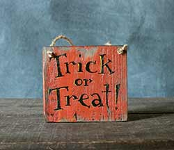 Trick or Treat Sign Ornament