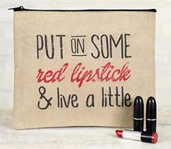 Red Lipstick Travel Bag