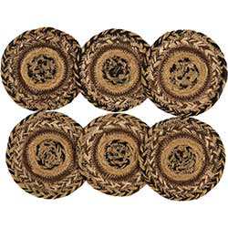 Kettle Grove Jute Coasters (Set of 6)