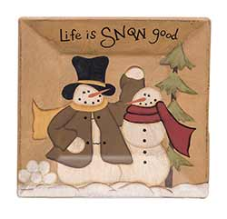 Life is Snow Good Snowmen Plate