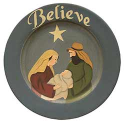 Believe Nativity Primitive Plate