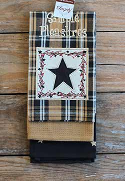 Primitive Star Kitchen Towels (Set of 3)