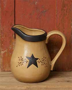 Primitive Black Star Pitcher - Large