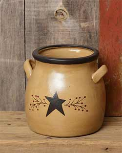 Primitive Black Star Large Crock