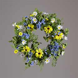 Blue & Yellow Floral Wreath