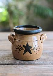 Primitive Black Star & Berry Small Crock