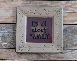All About Family Plate