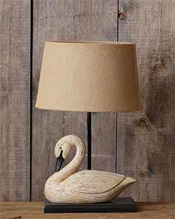 Goose Table Lamp with Shade
