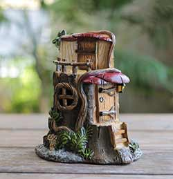 Stump & Mushroom Fairy House