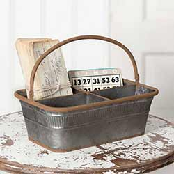 Rustic Metal Divided Caddy