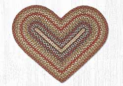 Honey, Vanilla & Ginger Braided Heart Rug
