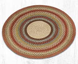 Honey, Vanilla & Ginger Round Braided Rug - 5.75 foot