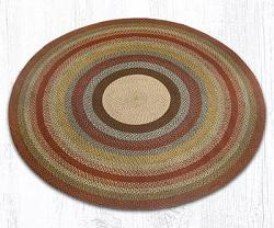 Honey, Vanilla & Ginger Round Braided Rug - 7.75 foot