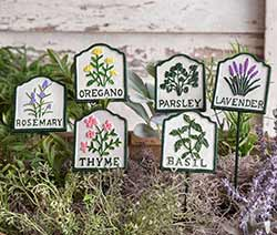 Herb Garden Stakes (Set of 6)