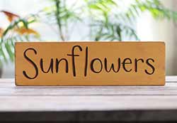 Sunflowers Rustic Wood Sign