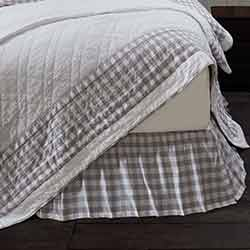 Annie Buffalo Grey Check King Bed Skirt