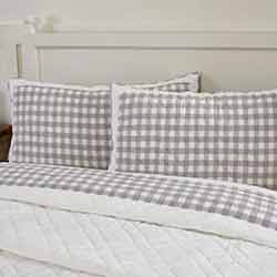 Annie Buffalo Grey Check King Sham