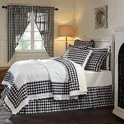 Annie Buffalo Black Check King Quilt